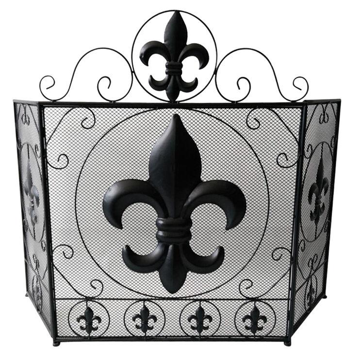 Fireplace Design metal fireplace screen : Fleur De Lis Fireplace Screen | Show Home Design
