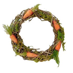 Picture of Twig Wreath with Carrots- 15 in.