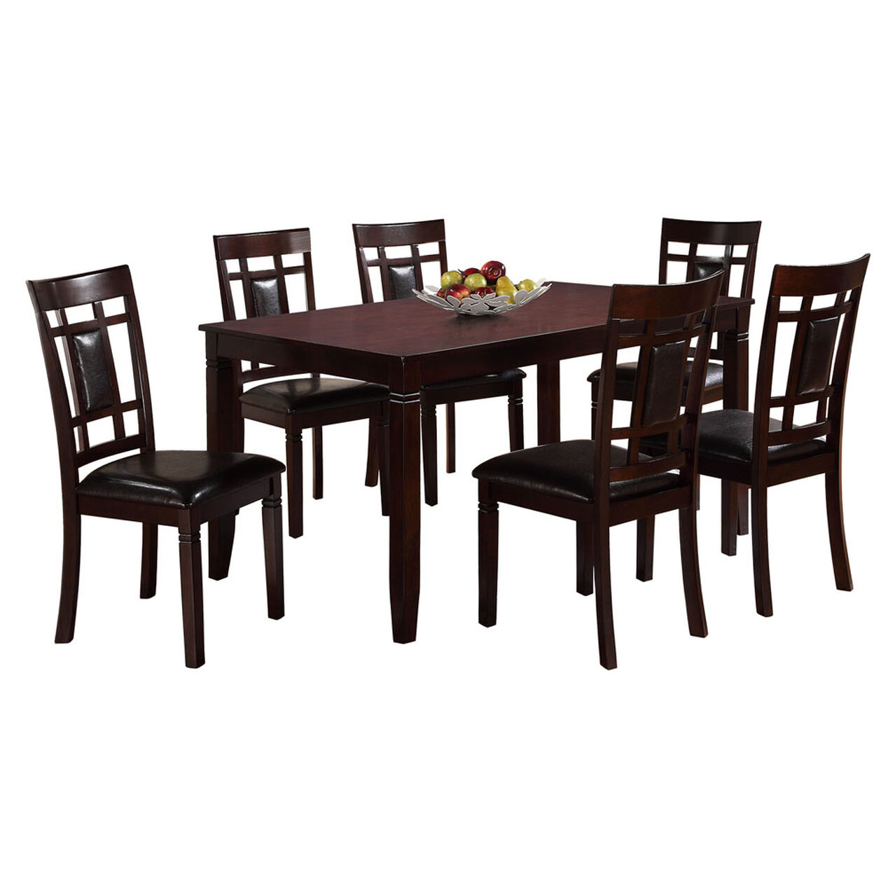 7 piece paige wood dining set table at home for 7 piece dining set with bench