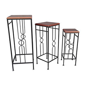 Picture of Wood & Metal Plantstand Black, Small (Assorted Sizes Sold Separately)