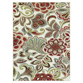 Picture of D269 Mulberry and Beige Floral Rug