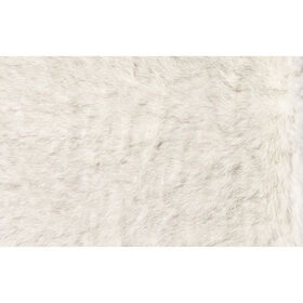 Picture of FAUX FUR IVORY GREY 2X3