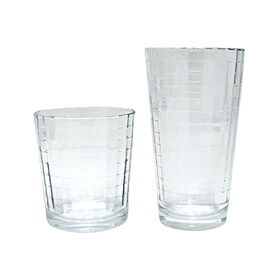 Picture of Windowpane 16 Piece Cooler and Double Old Fashion Glass Set