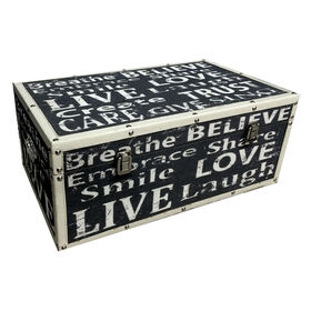 Picture of Large Nested Live Love Chest 19 X 11 X 8-in
