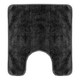 Picture of Black Three Piece Bath Rug Set