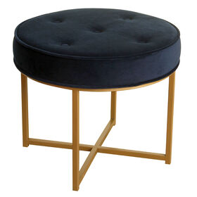Picture of Elroy Metal Navy Ottoman