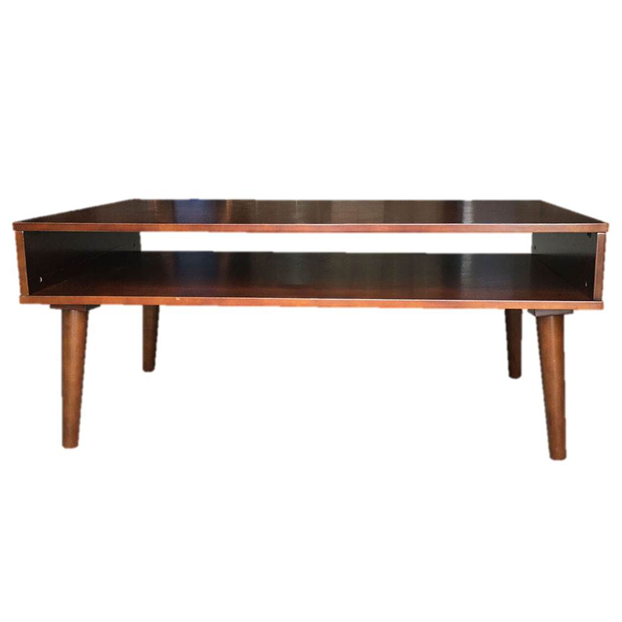 Brown Wooden Alan Coffee Table At Home