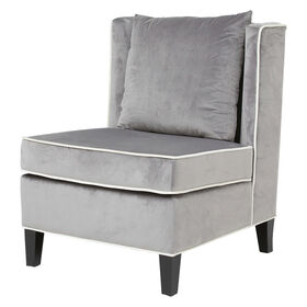 Picture of Nottingham Velvet - Grey and White