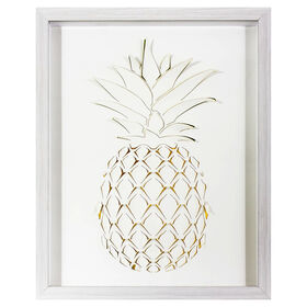 Picture of 3-D Pineapple Print Wall Art- 16 x 20-in