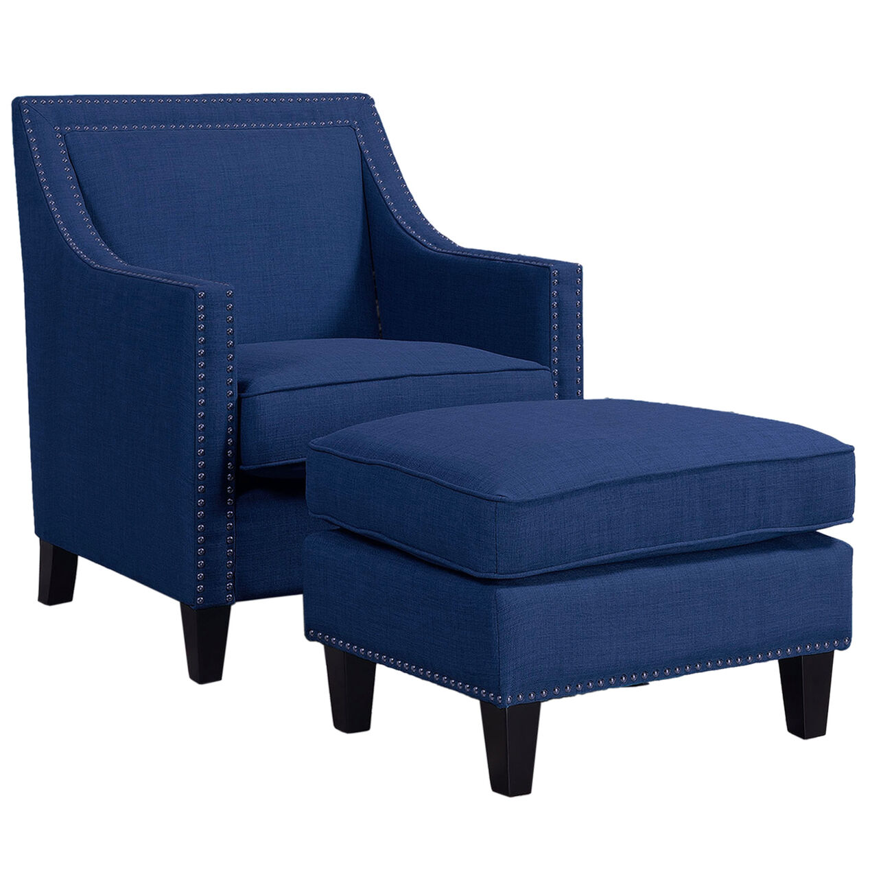Blue Erica Chair With Stud Detail