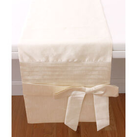 Picture of Bow Table Runner, Ivory