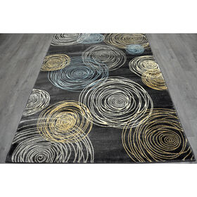 Picture of B149 Grey Circles Rug