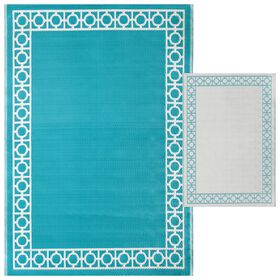 Picture of Aqua Outdoor Woven Area Rug 5X7