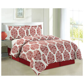 Picture of Red Emory Comforter Set