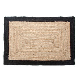 Picture of Jute Braided Rug with Black Border, 27 x 45