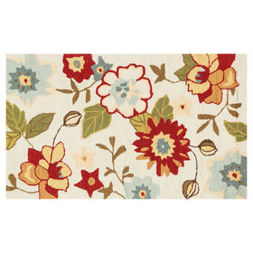 Picture of Zoe Ivory & Olive Accent Rug- 2 x 4 ft