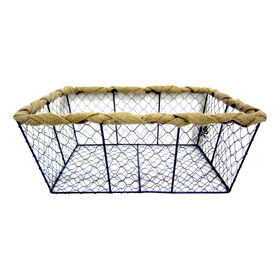 Picture of X-Large Chicken Wire Basket with Burlap Wrap