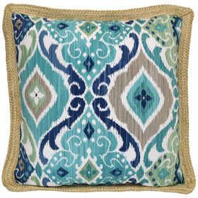 Picture of Jute Patio Cushion- Fresca Teal