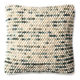 Picture of Aqua Wool Dots Natural Pillow- 18 x 18-in