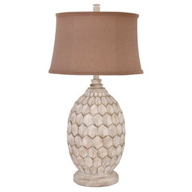 Picture of Sandy Pearl Ball Table Lamp 23-in (shade sold separately)