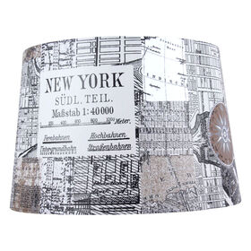 Picture of Black and White New York City Lampshade - 13 X 15 X 10 in.