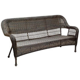 Picture of Dark Brown Wicker Outdoor Patio Sofa