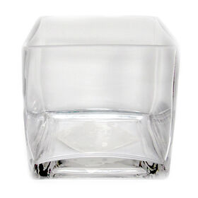 Picture of Clear Glass Cube Vase 4x4-in