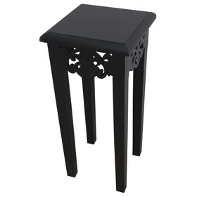 Picture of Wooden Scroll Table, Black, 23-in