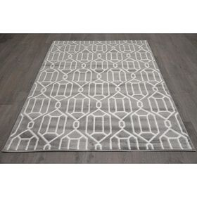 Picture of D318 DIAMOND LINK GRY/WHT 5X7