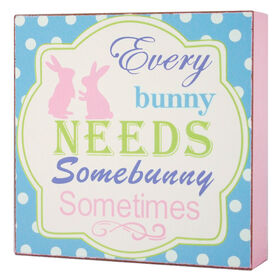 Picture of Every Bunny Needs Somebunny Sign- 6 in.