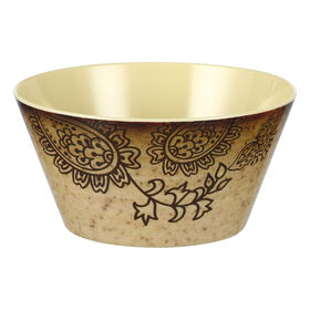 Picture of Folkloric Melamine Bowl, Tan