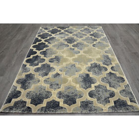 Picture of A199 Aqua and Cream Trellis Newbury Rug