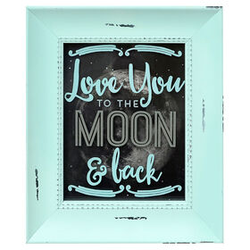Picture of 8 x 10 Framed Silhouette Art, Love You To the Moon and Back
