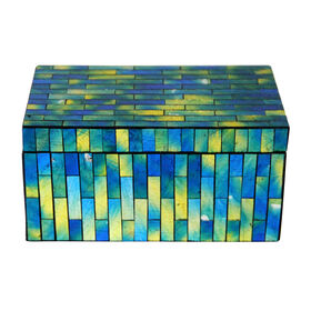 Picture of Mosaic Blue and Green Box 8X4.5-in