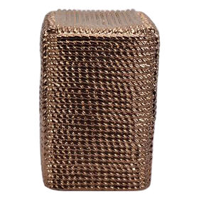Picture of Gold Ceramic Square Rope Table 17H