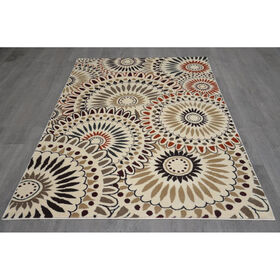 Picture of B253 White Opus Scope Rug- 5x7 ft