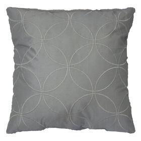 Picture of Grey Embossed Pillow - 18in