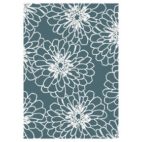 Picture of D268 Aqua and White Marigold Rug