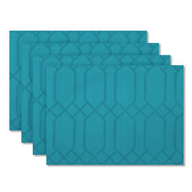 Picture of Chagall Teal Placemat - 4 Pack