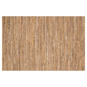 Picture of B295 Tan Edge Leather Jute Rug- 5x8 ft