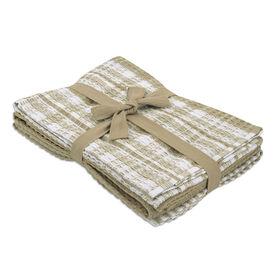 Picture of Beige Plaid Tea Towel - 3 Pack