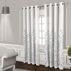Picture of Wilshire Sheer Grommet Curtain Panel- White 84-in