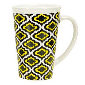 Picture of 22 oz Ikat Mug - Yellow and Black