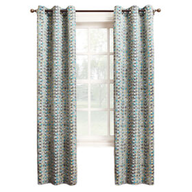 Picture of Gray Reva Window Curtain Panel 95-in