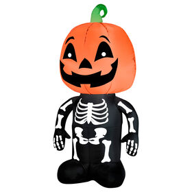Picture of 4-ft Pumpkin Skeleton Inflatable