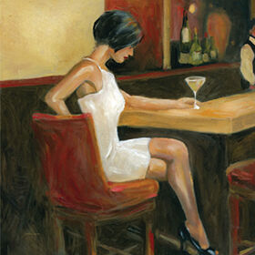Picture of 24 X 24-in Woman in White Studio Art