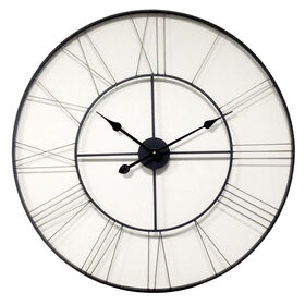 Picture of 46-in Giant Silver Industrial Clock