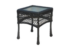 Picture of Black Wicker End Table