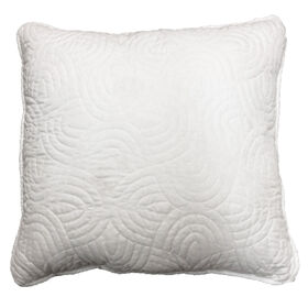 Picture of White Quilted Pillow - 18in