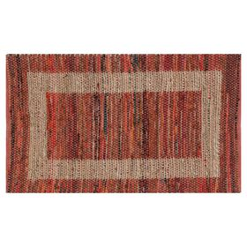 Picture of B314 Red Jute and Cotton Rug